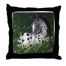 Spots of Springtime Throw Pillow