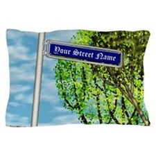 personalizable vintage street Pillow Case