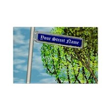 Personalizable Vintage Street Sign Rectangle Magne