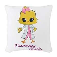 Pharmacy Chick Woven Throw Pillow