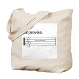 Music Improvisation Tote Bag