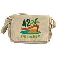 42nd Anniversary Paradise Messenger Bag