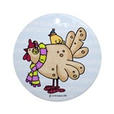 Winter Chicken Ornament (Round)