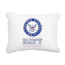 Navy - Proud Veteran Rectangular Canvas Pillow