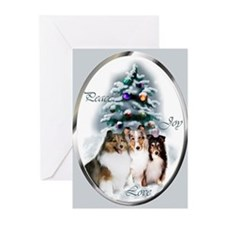 Shetland Sheepdog Christmas Cards (Pk Of 20)