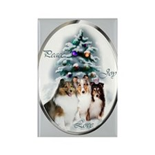 Shetland Sheepdog Christmas Rectangle Magnet (100