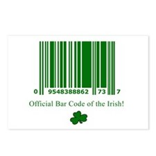 Irish Bar Code Postcards (Package of 8)