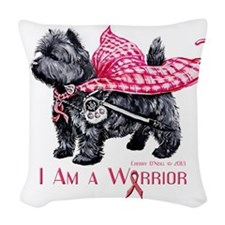 Carin Cancer Warrior Woven Throw Pillow