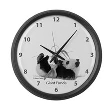 Giant Panda Large Wall Clock