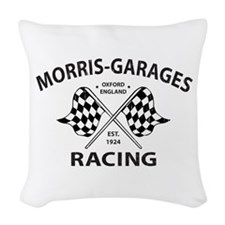 Vintage MG Morris Garages Woven Throw Pillow
