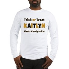 Kaitlyn Trick or Treat Long Sleeve T-Shirt