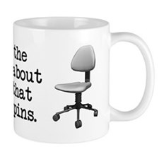Job Chair Spins Coffee Mug