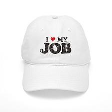 Retro Love My Job Baseball Cap