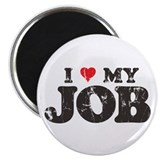 Retro Love My Job Magnet