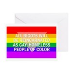 Six All Bigots... Greeting Cards