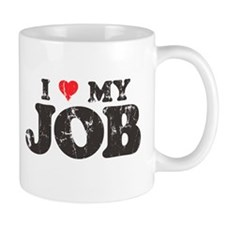 Retro Love My Job Coffee Mug
