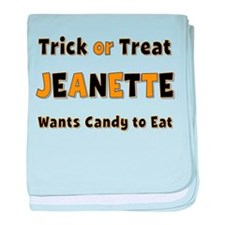 Jeanette Trick or Treat baby blanket