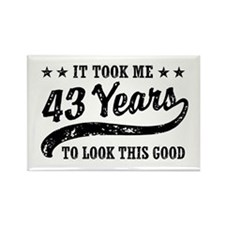 Funny 43rd Birthday Rectangle Magnet