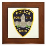 Boise City Police Framed Tile