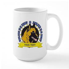 Personalized K9 Unit Belgian Malinois Mug