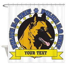 Personalized K9 Unit Belgian Malinois Shower Curta