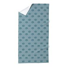 Blue Crowns Beach Towel
