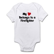 My Heart: Firefighter Infant Bodysuit