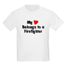 My Heart: Firefighter Kids T-Shirt