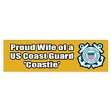 Coast Guard Wife Bumper Car Sticker