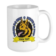Personalized K9 German Shepherd Mug