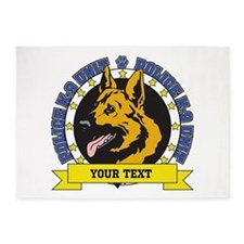 Personalized K9 German Shepherd 5'x7'Area Rug