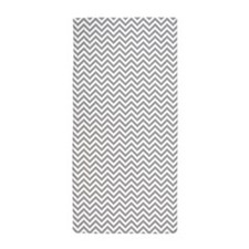 Grey and White Chevron Beach Towel