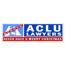 ACLU Lawyers Never Have a Merry Christmas Bumper Sticker