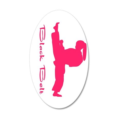 Black Belt Girl Wall Decal