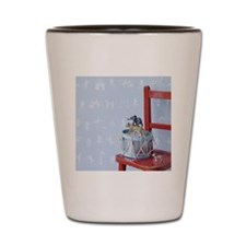 Animal Parade with Blue wall Shot Glass