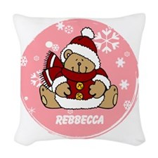 Cute Personalized Teddy Bear Xmas gift Woven Throw