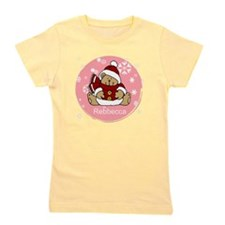 Cute Personalized Teddy Bear Xmas gift Girl's Tee