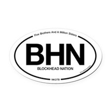 Cute New kids in the block Oval Car Magnet