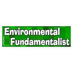 Environmental Fundamentalist Sticker