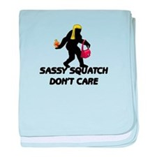 Sassy Squatch Don't Care baby blanket