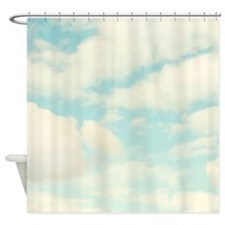 Cute Aqua Shower Curtain