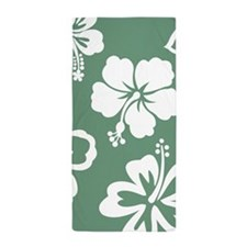 Hibiscus Pattern Beach Towel
