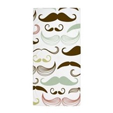 Mustache Beach Towel