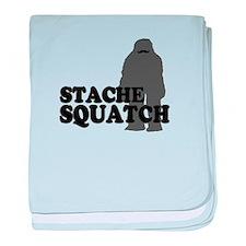 Stache Squatch baby blanket