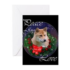 Shiba Inu Christmas Greeting Cards (Pk of 10)