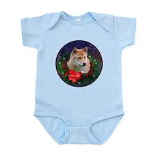 Shiba Inu Christmas Infant Bodysuit