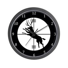 Deer In The Scope Hunter Wall Clock