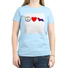 Peace, Love, Cardigan Corgi Women's Pink T-Shirt