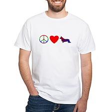 Peace, Love, Cardigan Welsh Corgi T-Shirt