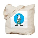 Military Cow in Camo Tote Bag